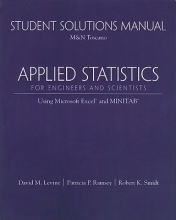 David M. Levine Student Solutions Manual for Applied Statistics for Engineers and Scientists