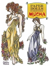 Charles Ventura Paper Dolls in the Style of Mucha