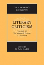 Edited by M A R H The Cambridge History of Literary Criticism
