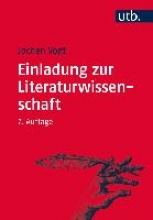 Vogt, Jochen Einladung zur Literaturwissenschaft