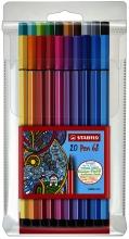 , Viltstift STABILO Pen 68/20 etui à 20 kleuren