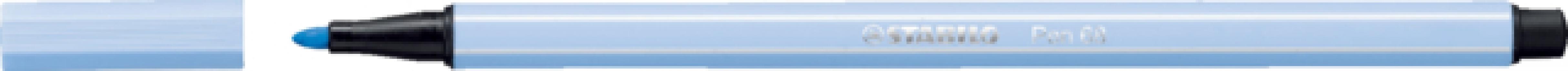 ,Viltstift stabilo 68/11 licht kobaltblauw