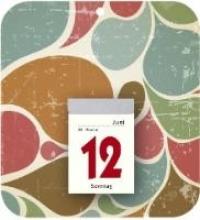 Retro-R�ckwand mit Tagesabrei�kalender 2018 Nr. 345-6101