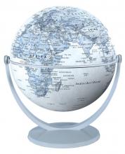 , Globe 15 cm pol. blauw draai & kantel