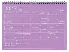 MARK`S 2017 Tischkalender M /Purple