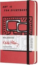 , Moleskine LE Notitieboek Keith Haring Pocket (9x14 cm) Blanco Scarlet Rood