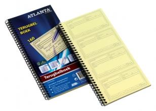 , Terugbelboek Atlanta 74x128mm 160 notities 40vel