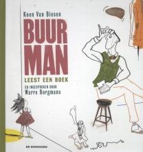 Koen van Biesen Buurman leest een boek