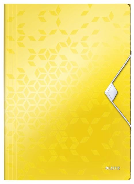 ,Elastomap Leitz WOW A4 3 kleppen PP geel