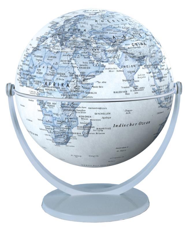 ,Globe 15 cm pol. blauw draai & kantel