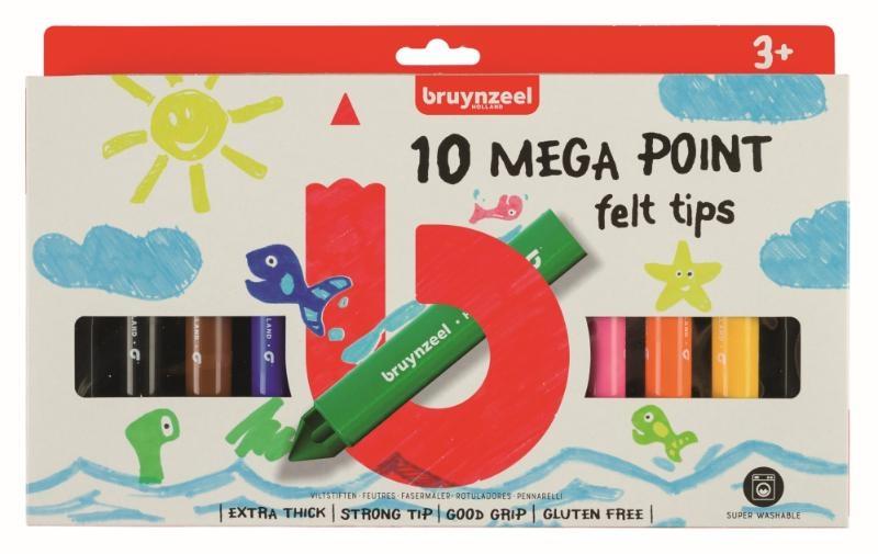,Bruynzeel Kids 10 mega viltstiften