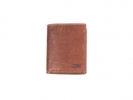 ,Portefeuille Mika bruin RFID. Leer. 12x10x2,5cm
