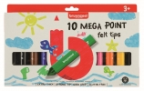 ,<b>Viltstift Bruynzeel Kids mega point blister à 10 stuks assorti</b>