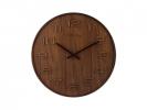 ,<b>Wandklok NeXtime dia. 35 cm, hout, bruin, `Wood Wood Medium`</b>