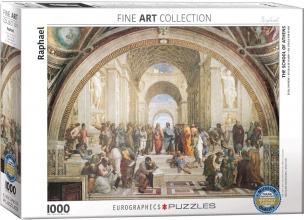 Eur-6000-4141 , Puzzel school of athens- raphael- 1000 stuks