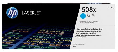 , Tonercartridge HP CF361X 508X blauw HC