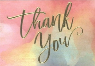 Hand Lettering Thank You Notes