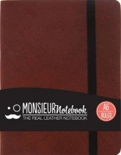 Monsieur Notebook Brown Leather Ruled Small