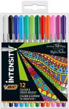 , Fineliner Bic Intensity 0,7mm etui à 12 kleuren