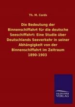 Th M Cords Die Bedeutung Der Binnenschiffahrt Fur Die Deutsche Seeschiffahrt
