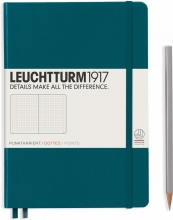 Lt359696 , Leuchtturm notitieboek medium 145x210 dots/puntjes pacific blauwgroen