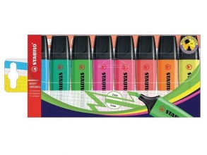 , Markeerstift STABILO Boss 70 etui à 8 kleuren
