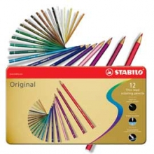 , Kleurpotloden STABILO Original blik à 12 kleuren