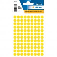 , Etiket Herma 1841 rond 8mm geel 540stuks