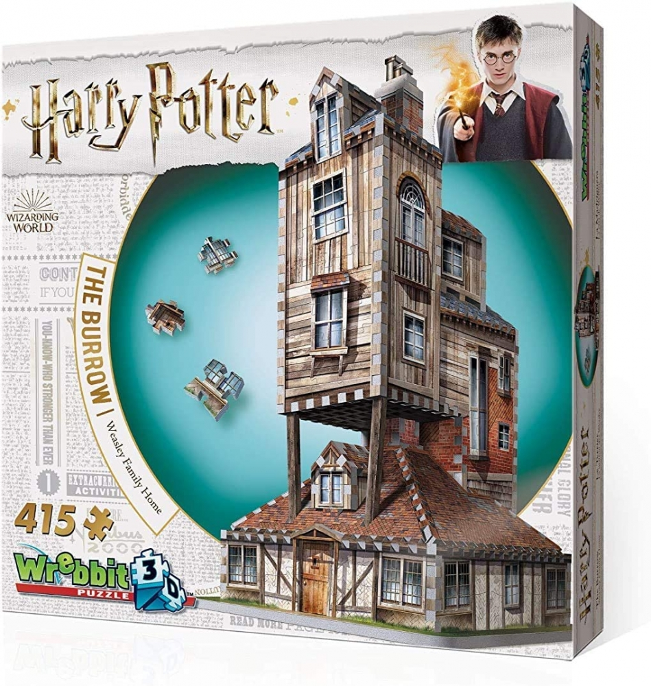 W3d-1011,Wrebbit 3d puzzle - harry potter - the burrow - weasley family home - 415