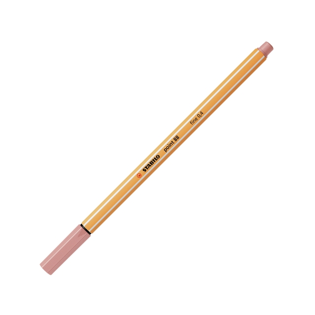 ,Fineliner STABILO point 88/28 donker blush