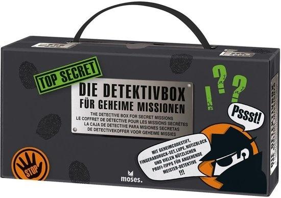 Mos-30711,Top secret detective box - vingerafdrukken, onzichtbare berichten, sporen etc.