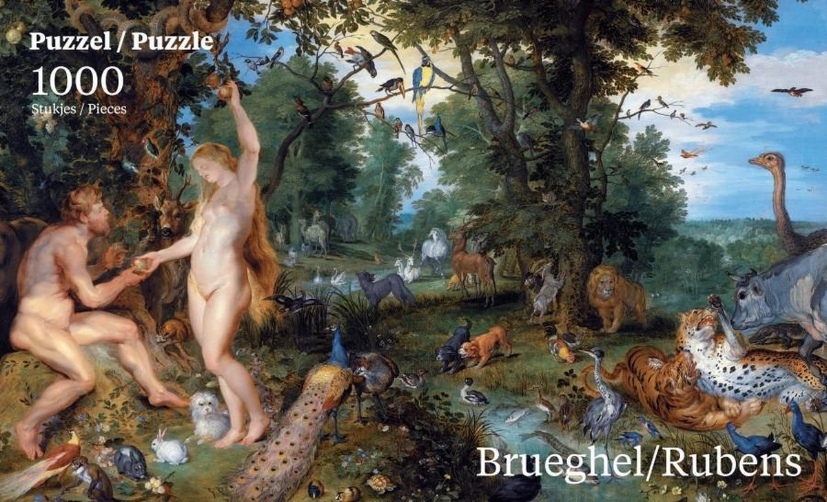 Puz-761,Puzzel paradijs - brueghel/ rubens 1000 stukjes  68x48,5cm