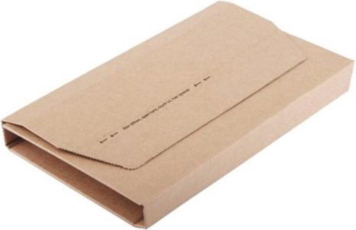 ,Wikkelverpakking CleverPack A4 +zelfkl strip bruin 10stuks