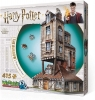 <b>W3d-1011</b>,Wrebbit 3d puzzle - harry potter - the burrow - weasley family home - 415