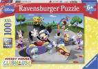 <b>Rav-108718</b>,Mickeys vrolijke skate club - disney - puzzel - ravensburger - 100 xxl - 49x36