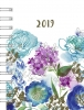 ,<b>Agenda 2019 a6 spiraal 7d2p bloemen</b>