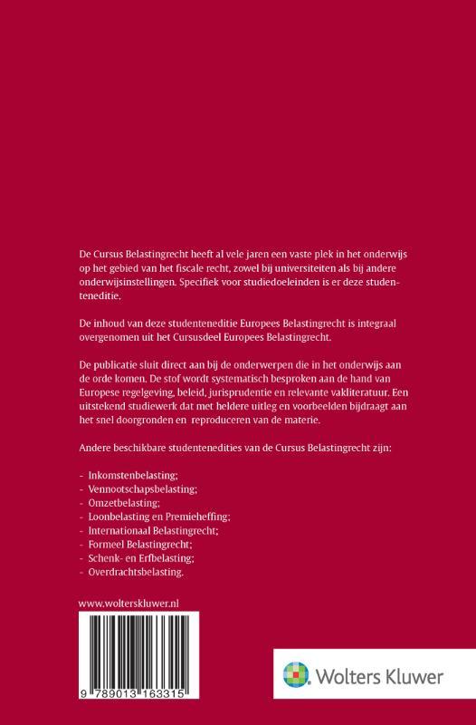 ,Cursus Belastingrecht Europees belastingrecht 2021-2022