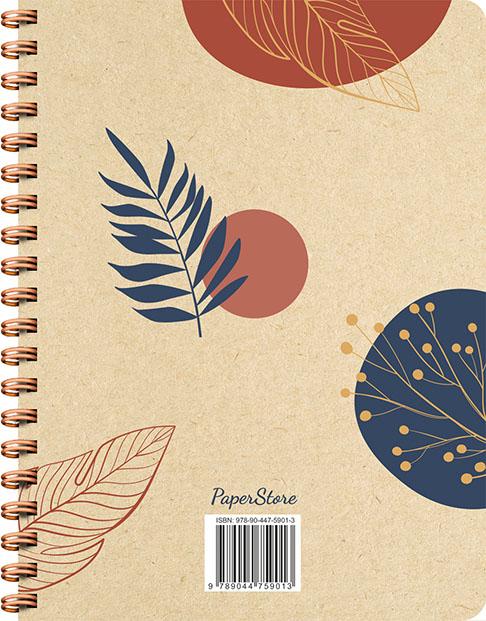 ZNU,Botanical Kraft spiraalboek groot (bullet)
