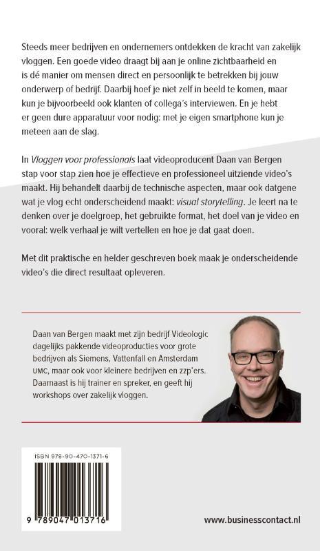 Daan van Bergen,Vloggen voor professionals