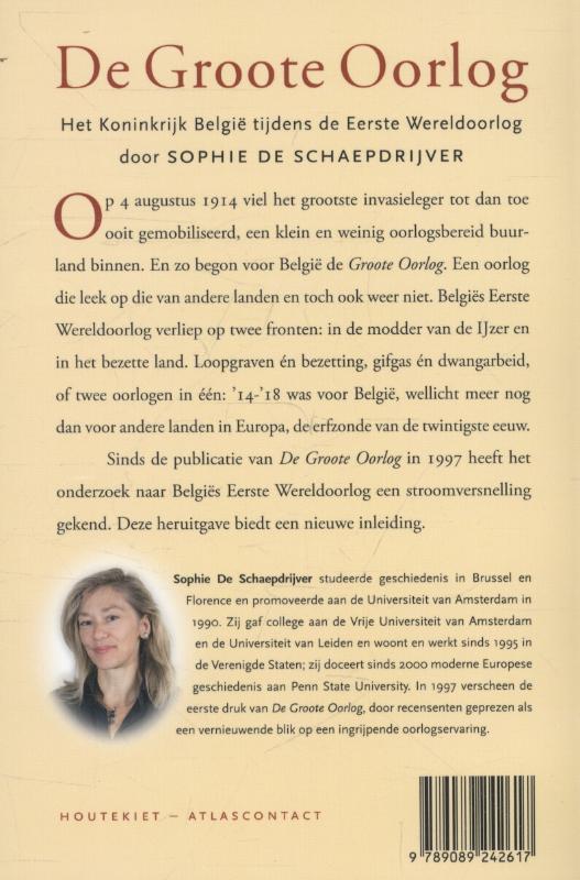 Sophie De Schaepdrijver,De Groote Oorlog