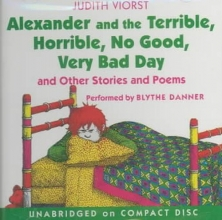 Viorst, Judith Alexander and the Terrible, Horrible, No Good, Very Bad Day CD