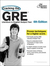 Princeton Review Cracking The Gre Literature In English Subject Test, 6Th Edition
