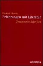 Lämmert, Eberhard Erfahrungen mit Literatur