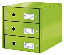 , Ladenbox Leitz WOW Click & Store 3 laden groen