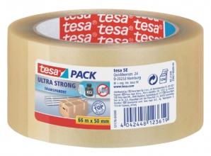 , Verpakkingstape Tesa 50mmx66m transparant ultra sterk PVC