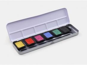 , Verftablet 30x22mm Premium High Chroma, 6 stuks in blik,    Finetec