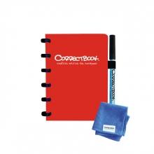 , Notitieboek Correctbook A6 lijn 40blz horizon red