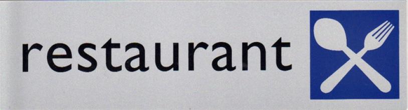 , Infobord pictogram restaurant 165x44mm