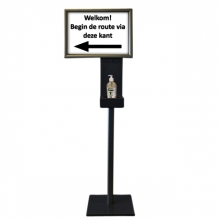 , Dispenser standaard Blinc 1,5m met A3 kijklijst
