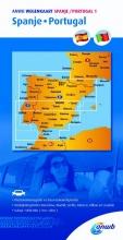 , ANWB Wegenkaart 1. Spanje/Portugal